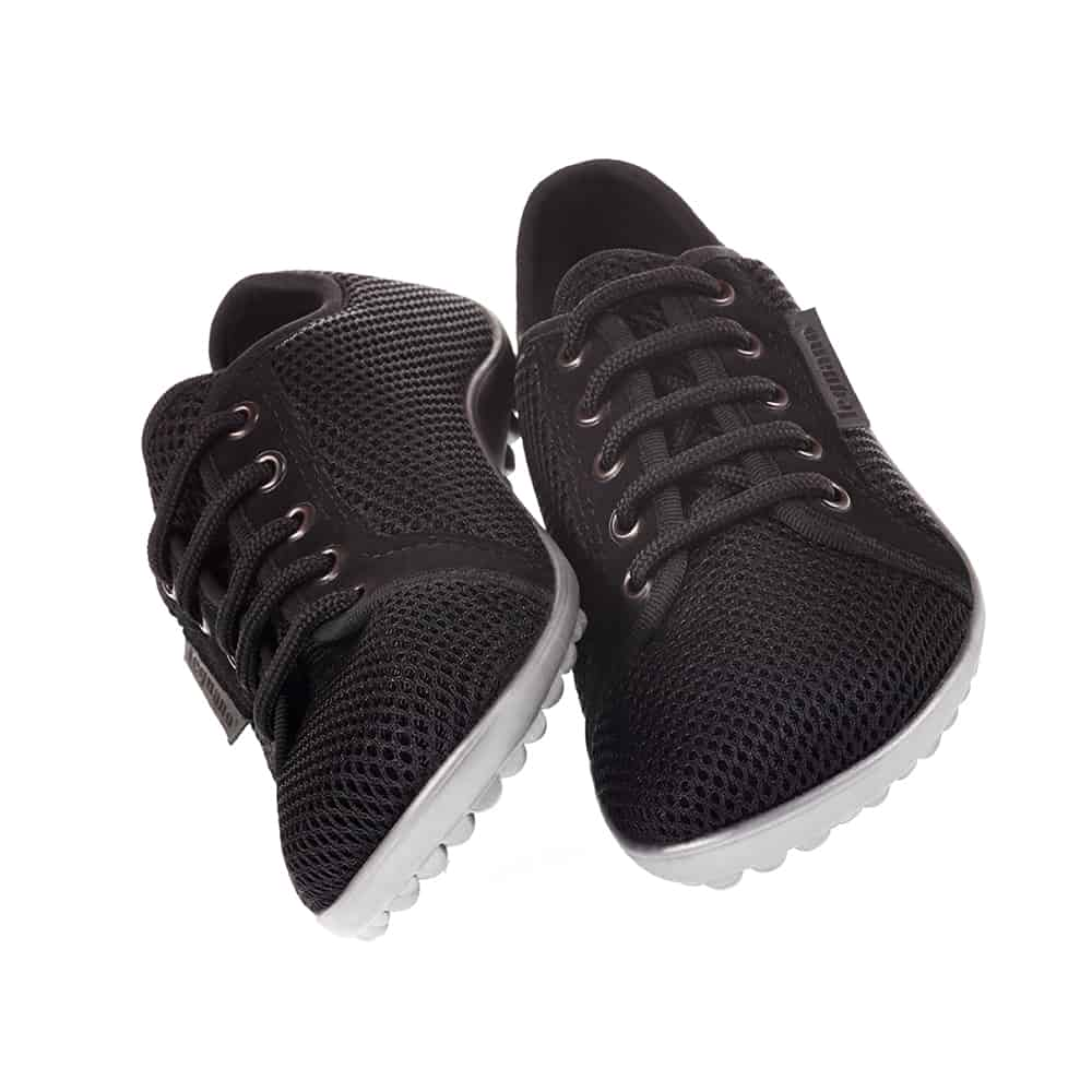 Sneaker Style Barefoot Shoes in Black